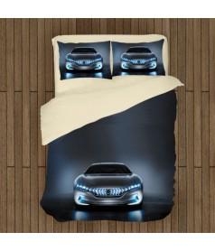 Lenjerie de pat cu mașini și motociclete