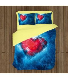 Lenjerie de pat cu temă romantică