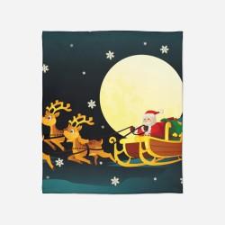 Pătură de Crăciun - Santa Claus in a Sledge