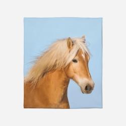 3D Pătură - Horse Blue