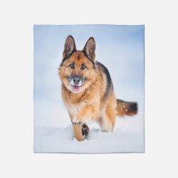 Pătură - Snow German Shepherd