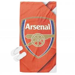 Prosop de plajă cu print Arsenal Red