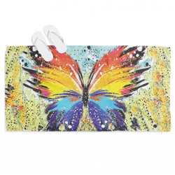 Prosop de plajă superb Fluture multicolor - Colorful Butterfly
