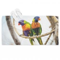 Prosop de plajă Colorful Parrots