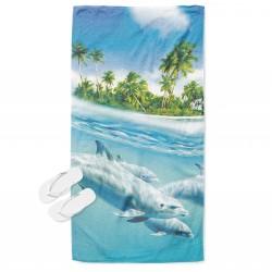 Prosop de plajă cu Delfini - Dolphins