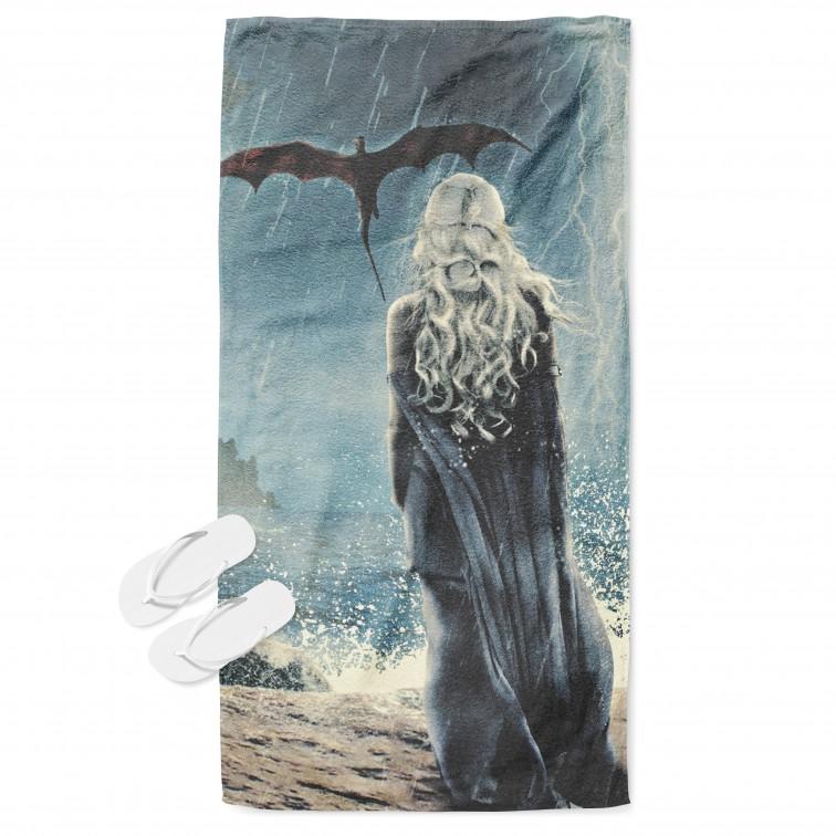 Prosop de plajă spectaculos Deneris Urzeala Tronurilor - Game of Thrones