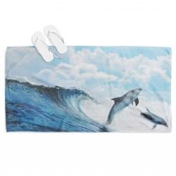 Prosop de plajă cu Delfini - Dolphin Dance