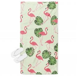 Prosop de plajă cu păsări Flamingo
