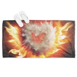 Prosop de plajă Inimă în flăcări - Burning Heart