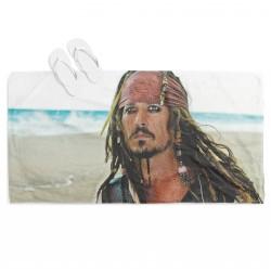 Prosop de plajă cu print Jack Sparrow