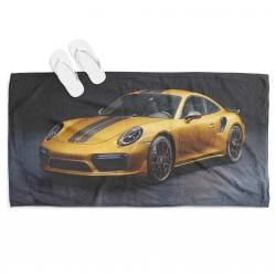 Prosop de plajă Yellow Porsche
