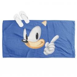 Prosop de plajă pentru copii Sonic Blue