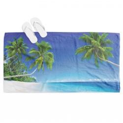 Prosop de plajă 3D Plajă Tropicală -Tropical Beach
