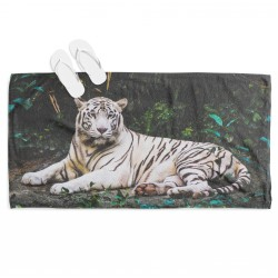 Prosop de plajă spectaculos Tigru alb - White Tiger