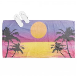 Prosop de plajă Apus de soare la mare - Sunset on the Beach