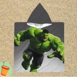 Poncho cu gluga pentru copii Hulk