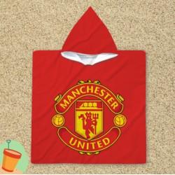 Poncho cu gluga Manchester United Red
