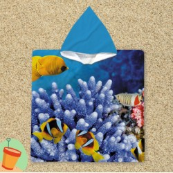 Poncho cu gluga pentru copii Sea Bottom