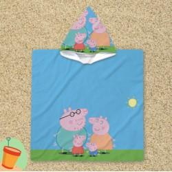 Poncho cu gluga pentru copii Peppa Pig