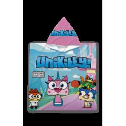 Poncho cu gluga pentru copii - Unikitty