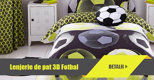 Lenjerie de pat 3D Fotbal