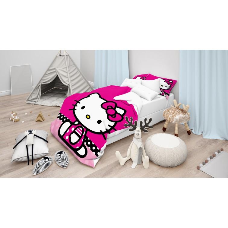 Cearșafuri pentru copii Hello Kitty Magenta