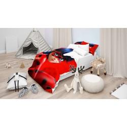 Lenjerie de pat pentru copii Miraculos Buburuză- Miraculous Ladybug