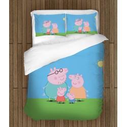 Lenjerie de pat pentru copii Purcelușa Peppa - Peppa Pig