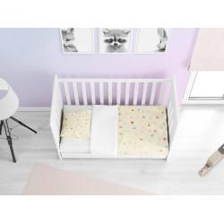 Lenjerie de pat delicată pentru bebeluși Inimioare- Hearts