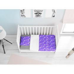 Cearșafuri pentru bebeluși din bumbac Baby mov - Newborn baby purple