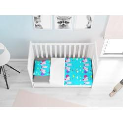 Lenjerie de pat adorabilă pentru bebeluși Ponei - Ponies