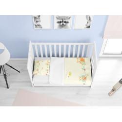 Lenjerie de pat bebeluși din bumbac Păsări - Birds