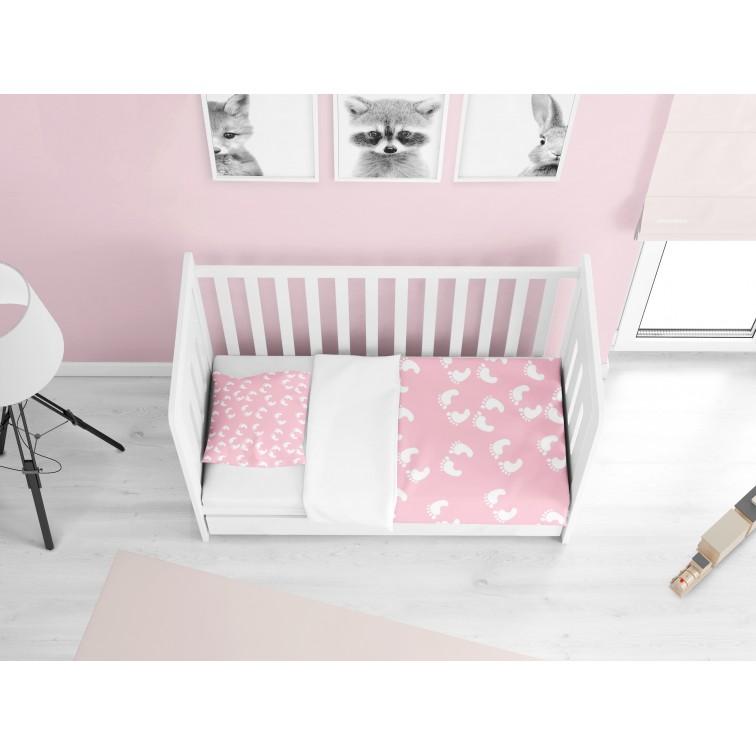 Lenjerie de pat pentru bebeluși Pași în roz - Steps Pink