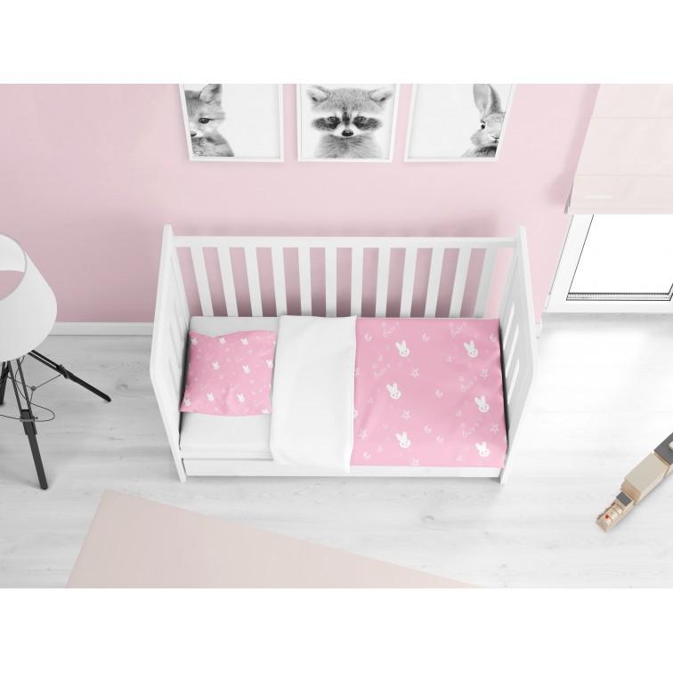 Lenjerie de pat delicată pentru bebeluși Iepuraș adorabil - Cute Rabbit