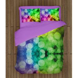 3D Lenjerie de pat cu desen delicat Cercuri - Abstract Rounds