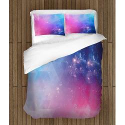 3D Lenjerie de pat colorată Galaxie - Abstract Galaxy