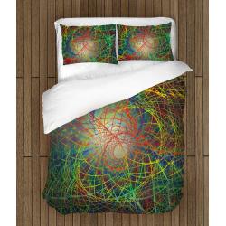 3D Lenjerie de pat de Design Haos colorat - Abstract Chaos