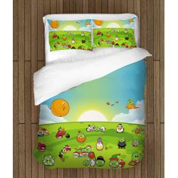 Set de pat Angry Birds și prieteni