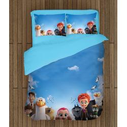 Lenjerie de pat pentru copii Berzele - Stork Animation