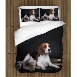Lenjerie de pat cu Beagle cățel - Beagle