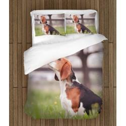 3D Set de pat Beagle în pădure - Beagle in the Wood