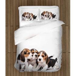 Set de pat cu cățeluși Beages - Beages Babies