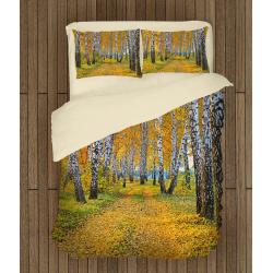 Lenjerie de pat Mesteacăni toamna - Birch in autumn