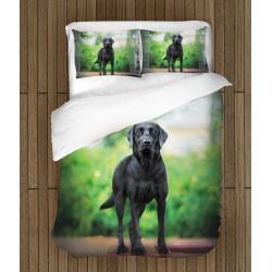Lenjerie de pat Labrador negru- Black Labrador