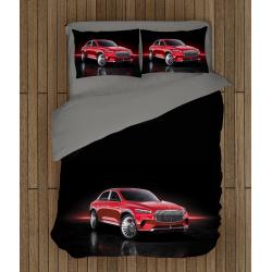Cearșafuri cu mașini Mercedes - Mercedes Red