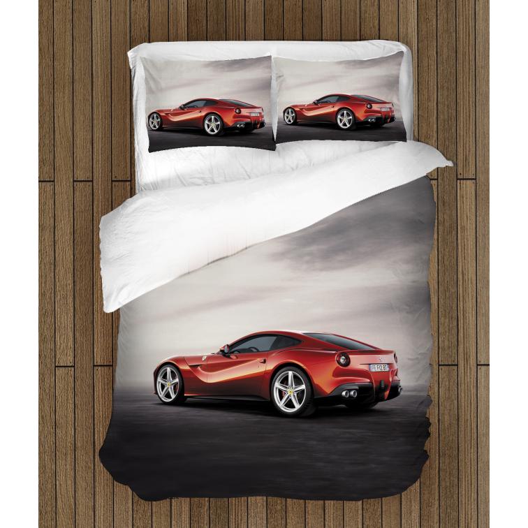 3D Lenjerie de pat Ferrari roșu- Red Ferrari
