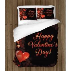"Set de pat temă romantică Happy Valentine""s Day"