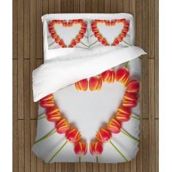Set cearșafuri romantică Iubire înflorită - Flower Love
