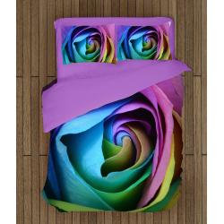 3D Lenjerie de pat de Lux Trandafir - Rose