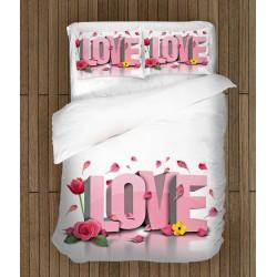 Set de pat romantic Să trăiască Iubirea - Long Live Love